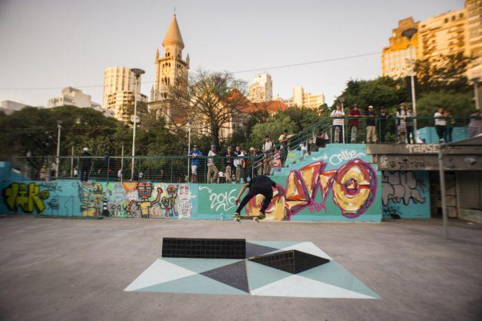 Renato Costa Custodio levou a obra C41 para a Praça Roosevelt.