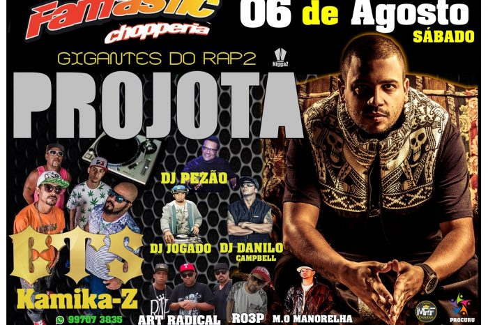 É dia 06/08 - A Festa Gigantes do RAP - Part 2 na Fantastic Chopperia - São Vicente/SP