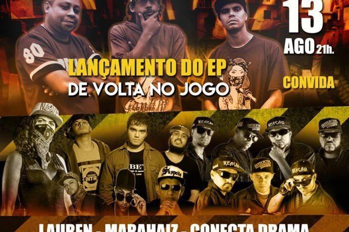 """Visão do Morro Apresenta: Lançamento do EP - """"De Volta no Jogo"""" e Convidados em Santos/SP"""