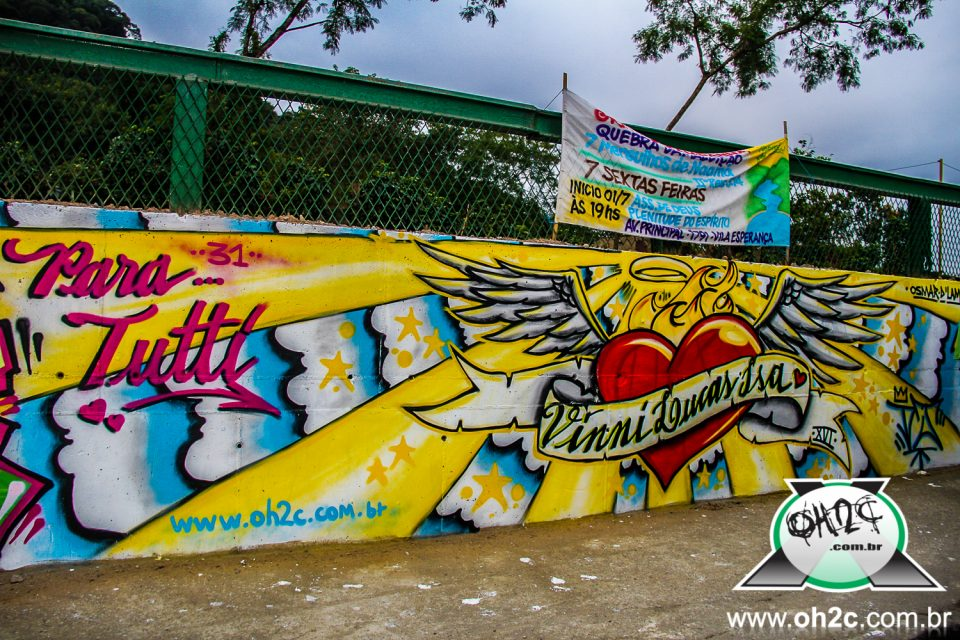 """Fotos do Mutirão de Graffiti - """"Projeto da Linha pra Frente"""" - Realizado na Vila Natal em Cubatão/SP - (Clique e Compartilhe)"""