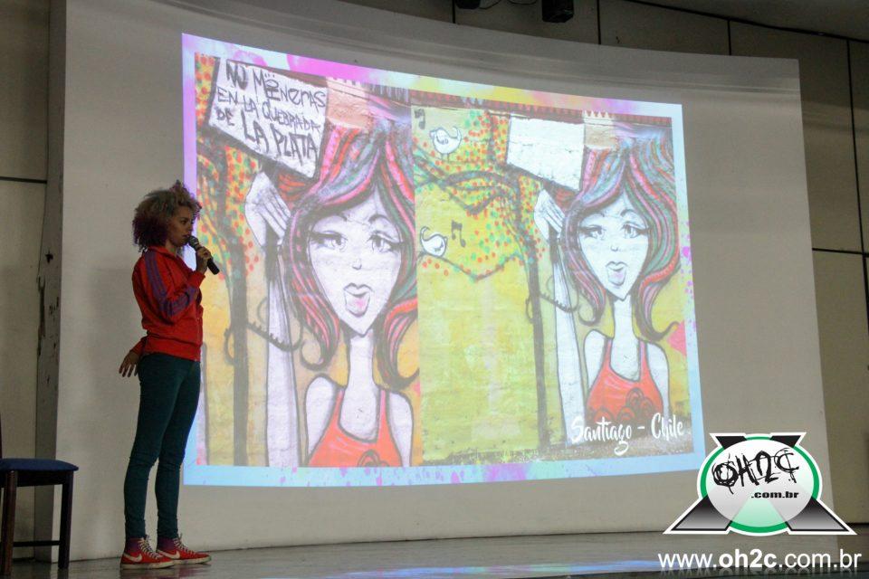 Fotos do Encontro que Rolou com a Graffiteira de Embu das Artes, Crica Monteiro, na Unisanta - Santos/SP - 18/08/16 - (Clique e Compartilhe)