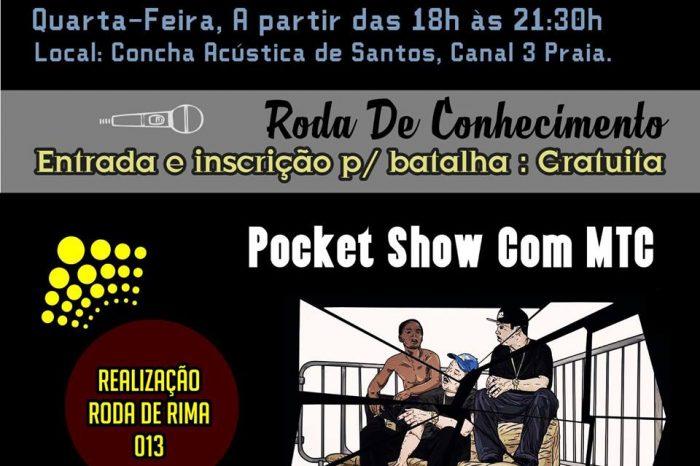 Dia 24/08 (Quarta-Feira), tem Batalha do Conhecimento na Concha Acústica em Santos/SP - (Clique e Compartilhe)