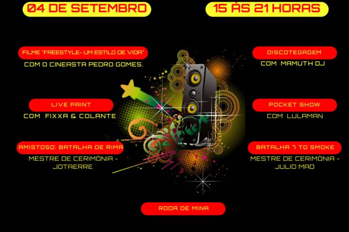 Dia 04/09 tem a 3º Edição do Cine Estação Hip Hop em Santos/SP - (Clique e Compartilhe)