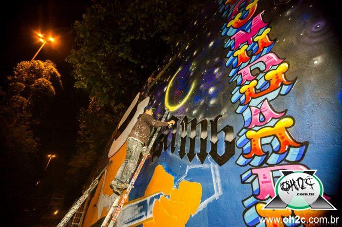 Fotos do Túnel Noite Ilustrada, que Contou com a Presença de 70 Artistas da Arte Urbana em São Paulo - (Clique e Compartilhe)