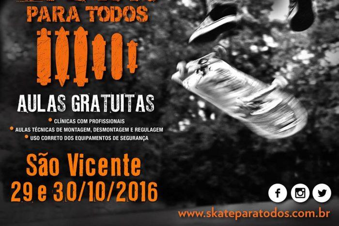 """Plataforma """"Skate Para Todos"""" Chega em São Vicente/SP Litoral Sul de São Paulo e Acontece nos dias 29 e 30/10 - (Clique e Compartilhe)"""