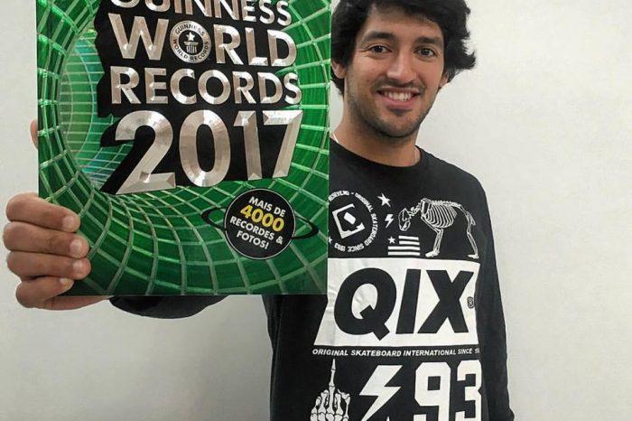 """Skatista do Guarujá/SP """"Kelvin Hoefler"""", entra para o Livro dos Recordes 2017, como Maior Vencedor de Títulos Mundiais na Categoria Street - (Clique e Compartilhe)"""