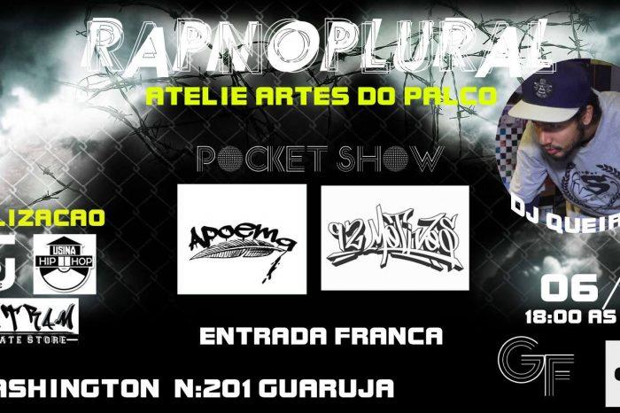 Dia 06/11 tem a 1ª Edição do Projeto RAP no PLURAL em Vicente de Carvalho - Guarujá/SP - (Clique e Compartilhe)