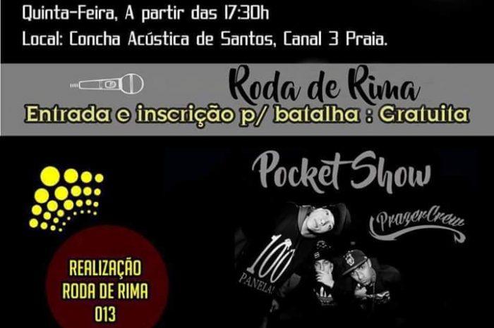 Roda de Rima 013 Apresenta Quinta-Feira dia 20/10 na Concha Acústica em Santos/SP a Batalha na Concha #04 - (Clique e Compartilhe)