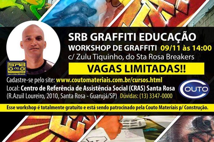 """Dia 09/11 no Guarujá/SP Workshop Gratuito de Graffiti com o Artista Urbano Fernando dos S. Rodrigues """"Zulu Tiquinho"""" - (Clique e Compartilhe)"""