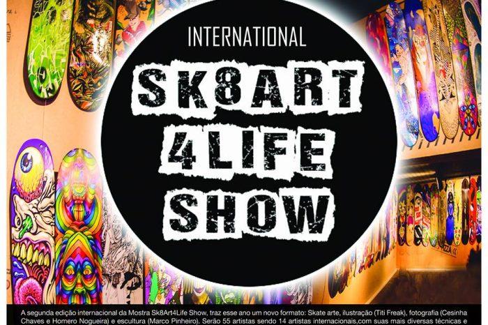Dia 05/12 acontece a Abertura da Segunda Edição Internacional da Mostra Sk8Art4LifeShow no Piola Jardins / SP- (Clique e Compartilhe)