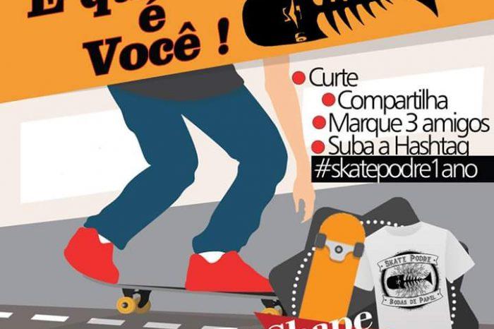 Dia 26/11 o Canal Skate Podre Completa 1 Ano e quem Ganha o Presente é Você - (Clique e Compartilhe)