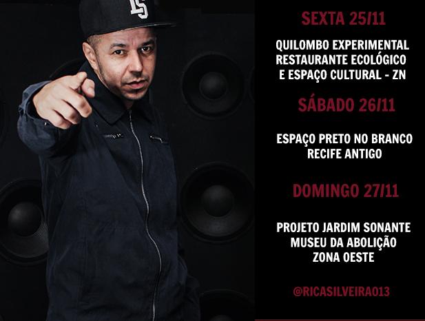 Rapper Rica Silveira leva o Rap Nacional da Baixada Santista para o Recife/PE neste Final de Semana - (Clique e Compartilhe)