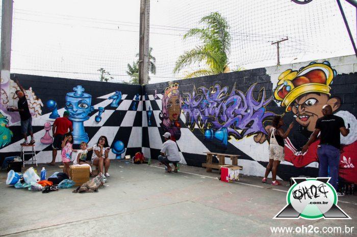 Fotos da 17ª Mostra de Graffiti e Festa de Natal do Hip Hop no Santa Rosa em Guarujá/SP - (Clique e Compartilhe)
