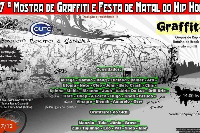 17ª Mostra de Graffiti e Festa de Natal do Hip Hop Acontece dia 17/12 no Guarujá/SP - (Clique e Compartilhe)