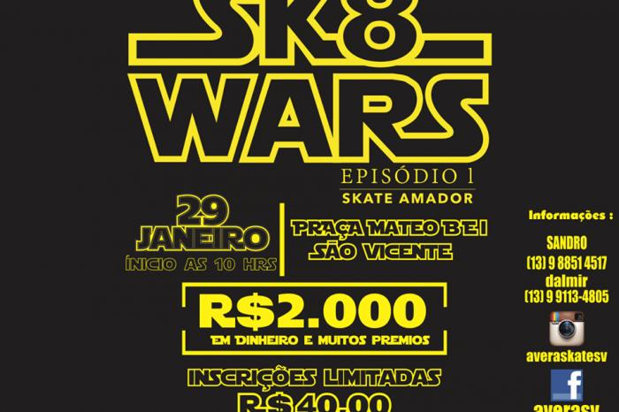 """FORTSTORE Apresenta: SK8 WARS """"Episódio I - Skate Amador"""" no Jockey Club em São Vicente/SP - (Clique e Compartilhe)"""