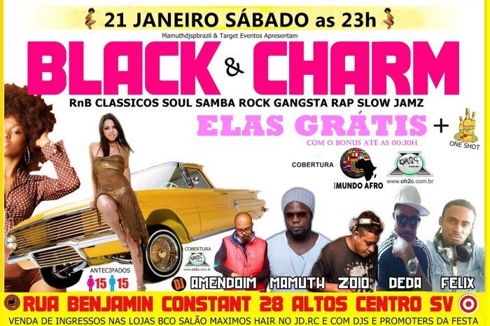 """O Melhor da Black Music está de volta na Baixada Santista """"Projeto Black Charm & Samba Rock Anos 90"""" - (Clique e Compartilhe)"""