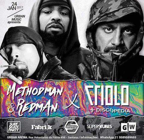 Urban Music Apresenta dia 24/01- Method Man & Redman e Criolo em São Paulo/SP - (Clique e Compartilhe)