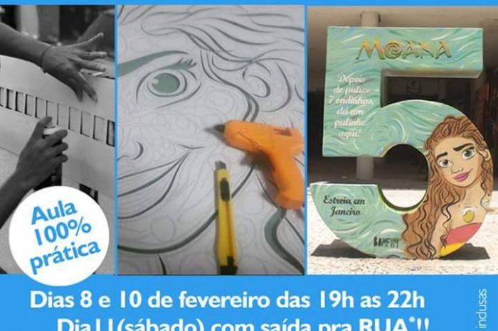 Estúdio A1Fotografia Apresenta Curso de Estêncil com o Artista Urbano Érico Bomfim em Santos/SP - (Clique e Compartilhe)