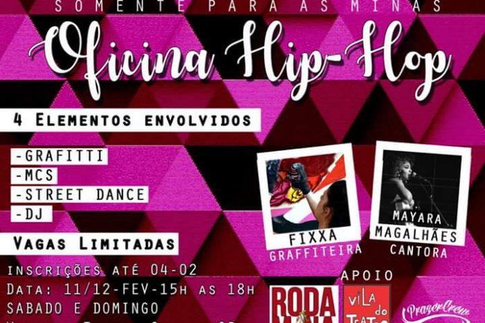 Roda de Mina apresenta Oficina de Hip Hop para as Minas em Santos / SP - (Clique e Compartilhe)