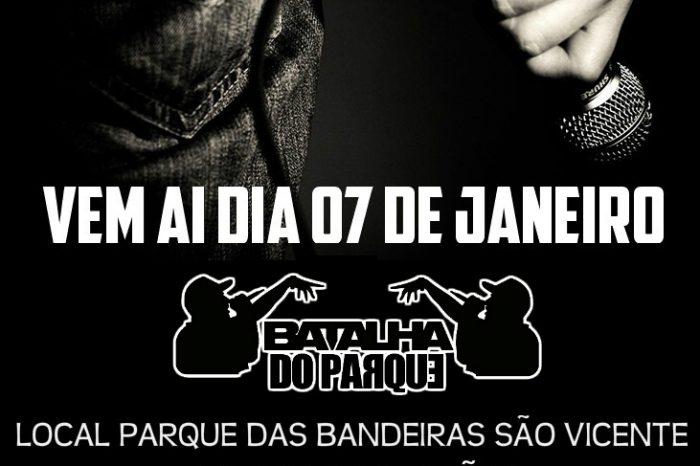 """1º Batalha do Parque - HIP HOP - """"Cultura de Paz no Combate a Violência"""" em São Vicente/SP- (Clique e Compartilhe)"""
