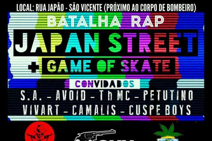 2° Batalha Rap Japan Street + Game Of Skate em São Vicente/SP - (Clique e Compartilhe)