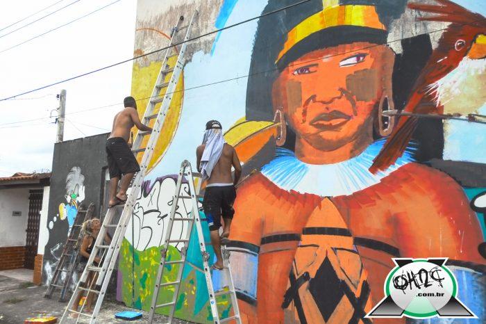 """Confira alguns click's do Painel """"Em Andamento"""" em Itanhaém feito por diversos Artistas Urbano da Baixada Santista e de São Paulo - (Clique e Compartilhe)"""