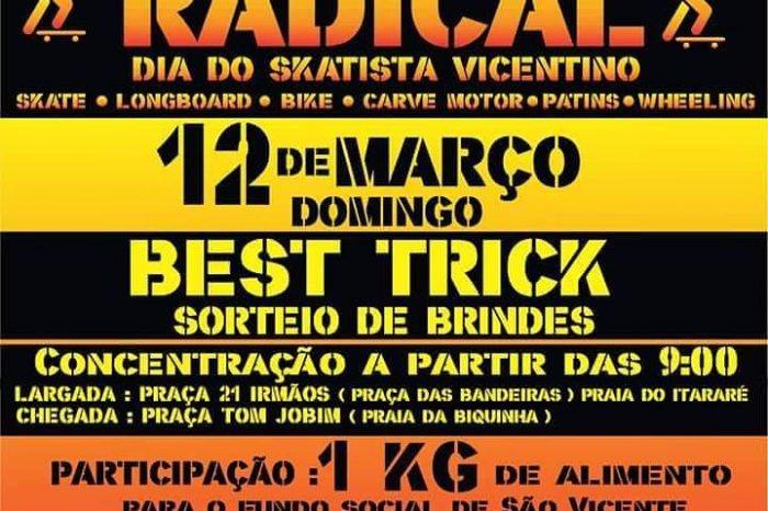 Caminhada Radical dia 12/03 (domingo) em comemoração ao Dia do Skatista Vicentino - (Clique e Compartilhe)