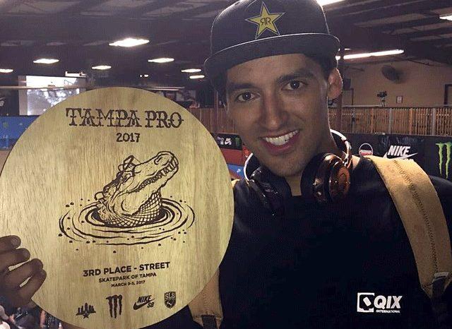 Skatista Profissional do Guarujá/SP Kelvin Hoefler conquista 3˚lugar no Tampa Pro 2017 - (Clique e Compartilhe)