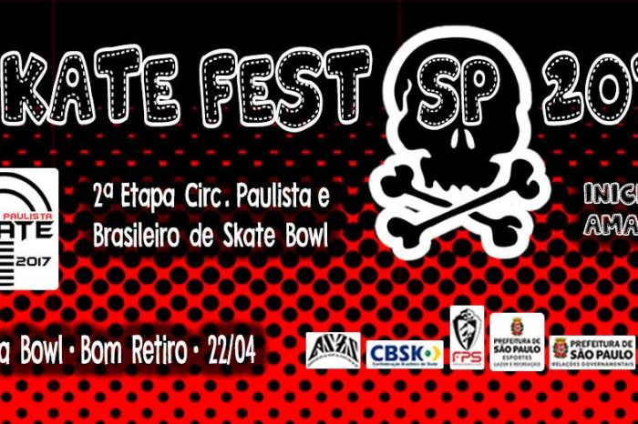 """SKATE FEST SP 2017 """"Etapa Bowl"""" dia 22/04 no Bom Retiro/SP - (Clique e Compartilhe)"""