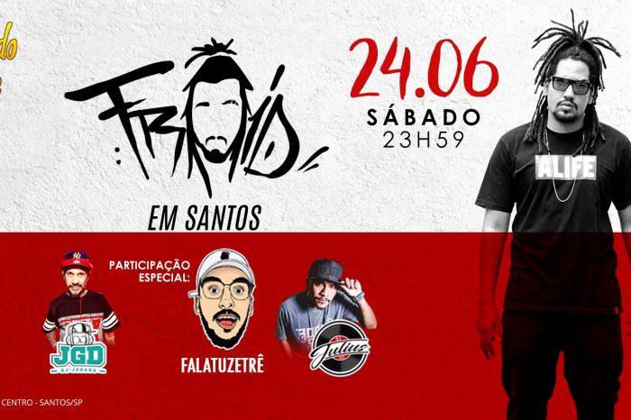 Em sua 2º Edição Trocando Azideia apresenta Rapper FROID pela Primeira vez em Santos/SP - (Clique e Compartilhe)