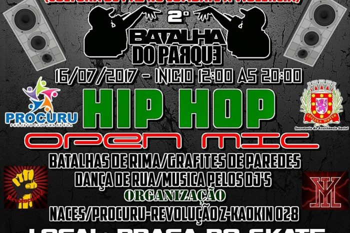 """2ª Intervenção Cultural """"Hip-Hop"""" do Parque das Bandeiras em São Vicente/SP - (Clique e Compartilhe)"""
