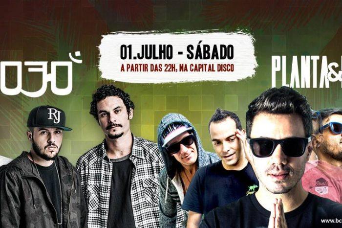 Grupo 3030 e Planta & Raiz no Circuito de Música Beach Class na Capital Disco em Santos/SP - (Clique e Compartilhe)