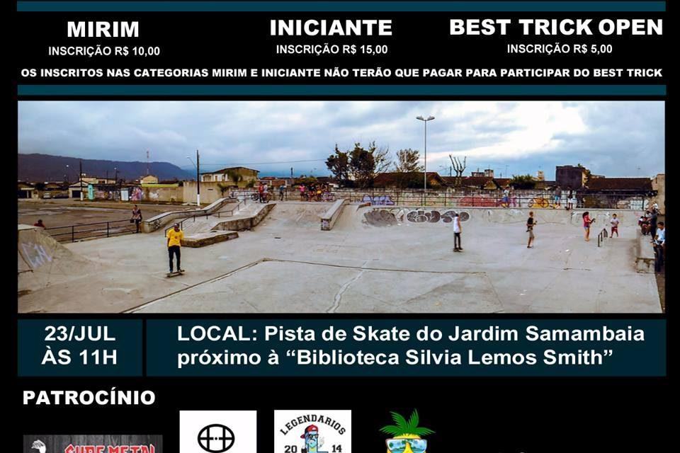 1º Campeonato de Skate Beneficente em Prol da Reforma da Pista do Samambaia em Praia Grande/SP - (Clique e Compartilhe)