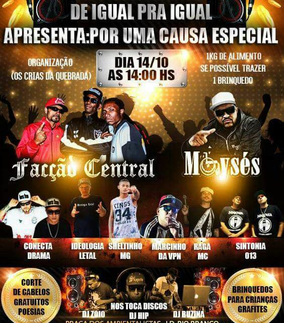 Os Crias da Quebrada Apresenta Facção Central, Moysés e Convidados em São Vicente/SP - (Clique e Compartilhe)