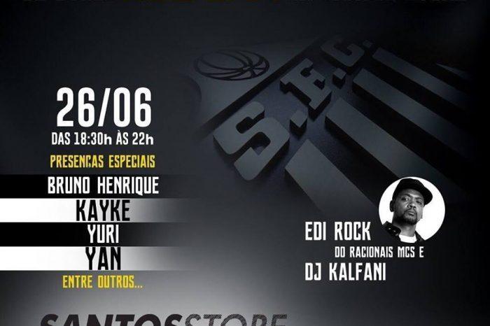 """Lançamento New Era na Santos Store com a Presença do Rapper Edi Rock """"Racionais Mc's"""" e Dj Kalfani - (Clique e Compartilhe)"""