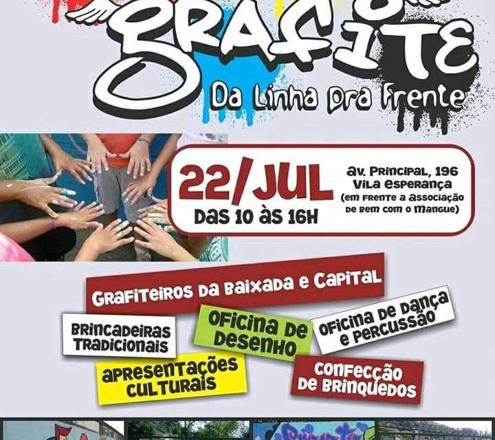 """2º Mutirão de Graffiti """"Projeto da Linha pra Frente"""" em Cubatão/SP – (Clique e Compartilhe)"""