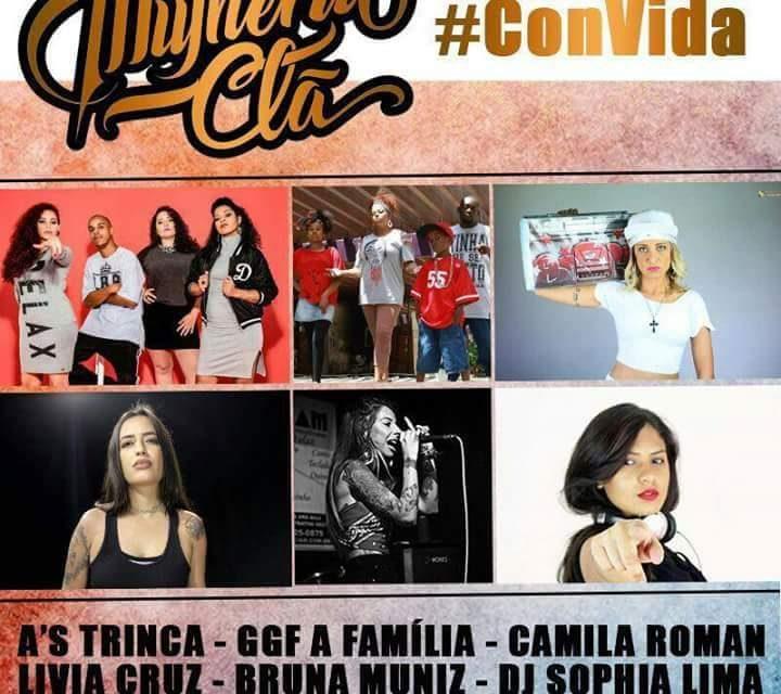 Mulheriu Clã #ConVida Lívia Cruz, Bruna Muniz, A's Trinca, Camila Roman e GGF A Família - (Clique e Compartilhe)