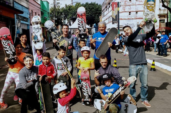 """SkateBoards na """"Ação Social na Cracolândia/SP"""" que contou com a presença do Projeto Skate no Pé, Quintal do Ipiranga e Six Truck - (Clique e Compartilhe)"""