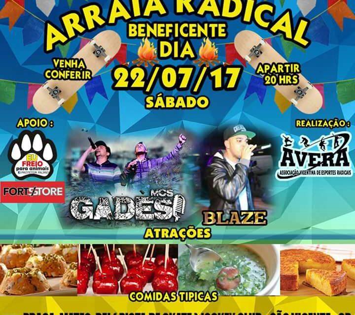 """Arraiá Radical """"Projeto AVERA - Escola de Skate"""" em São Vicente/SP - (Clique e Compartilhe)"""