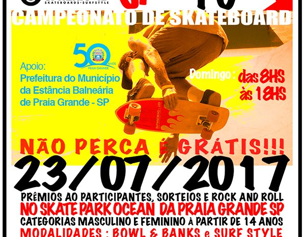 """Campeonato de SkateBoard """"Sk8Bords Jam PG"""" em Praia Grande/SP - (Clique e Compartilhe)"""