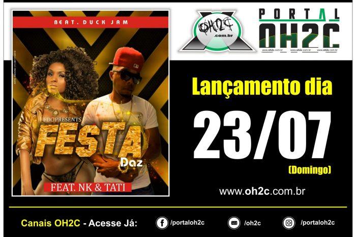 """Dia 23/07 (domingo) FDC Presents Lançamento da Música do Rapper Daz """"Festa"""" feat NK & Tati - (Clique e Compartilhe)"""