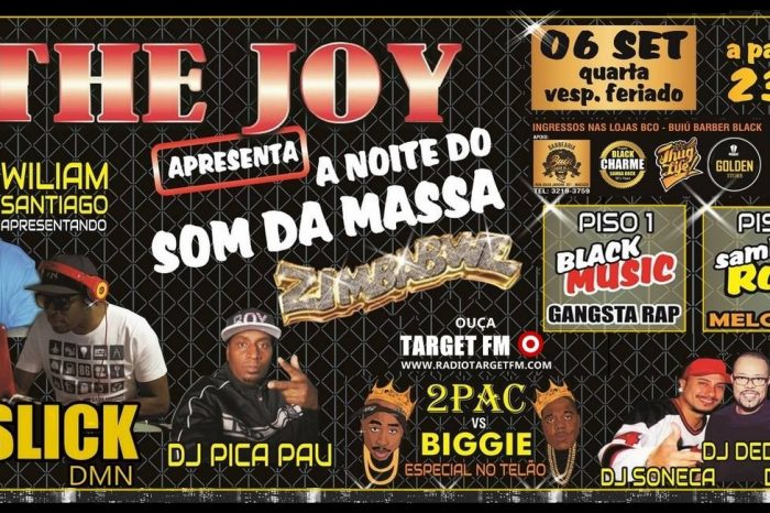 """The Joy Bar & Club Apresenta """"A Noite do Som da Massa com a Equipe Zimbabwe"""" em Santos/SP - (Clique e Compartilhe)"""