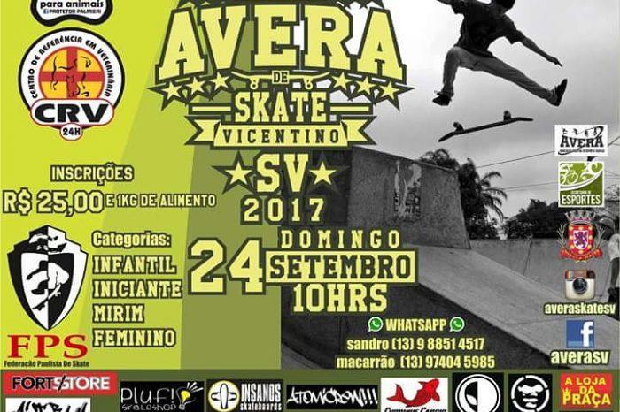 """17º Edição do Circuito AVERA de Skate Vicentino 2017 """"2ª Etapa"""" – (Clique e Compartilhe)"""