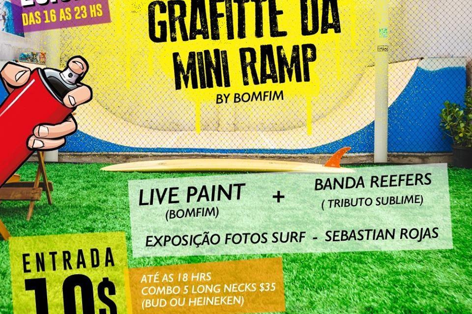 Grafitte Live Painting com Erico Bomfim + Banda Reefers no Oceano Cultural em Santos/SP - (Clique e Compartilhe)