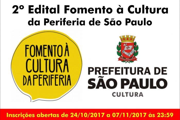 2º Edital Fomento à Cultura da Periferia de São Paulo - (Clique e Compartilhe)