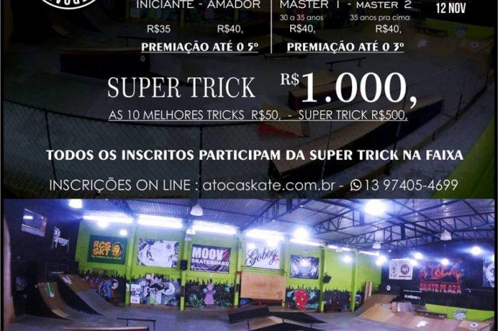 A Toca Skate Plaza Apresenta SUPERLIGA SKATEBOARD 2017 + SUPER TRICK em São Vicente/SP - (Clique e Compartilhe)