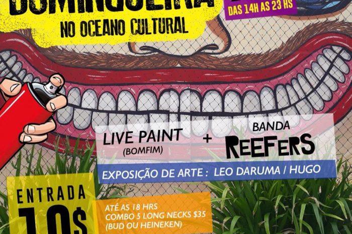 Domingueira no Oceano Cultural com Live Painting de Erico Bomfim + Banda Reefers em Santos/SP – (Clique e Compartilhe)