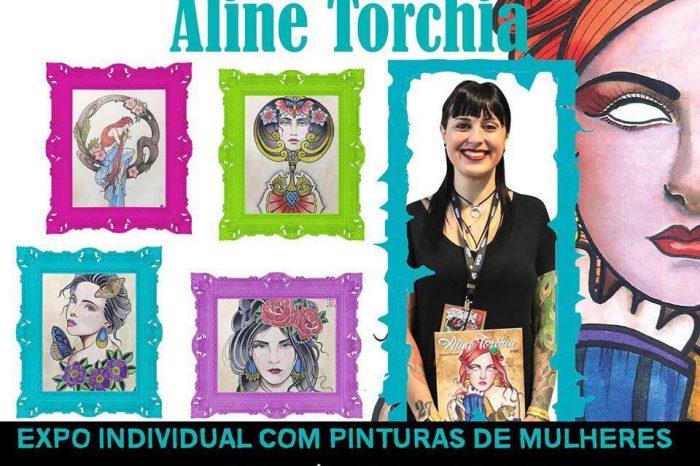 """Pixel Art Books x Galeria Ink Apresentam """"Exposição MULHERES DE Aline Torchia"""" em SP - (Clique e Compartilhe)"""
