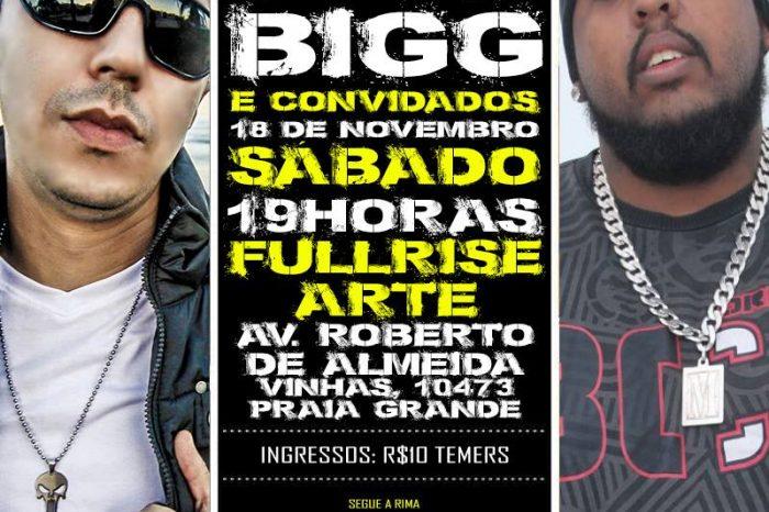 Rapper's Rica Silveira e BIGG na Full Rise Arte em Praia Grande/SP - (Clique e Compartilhe)