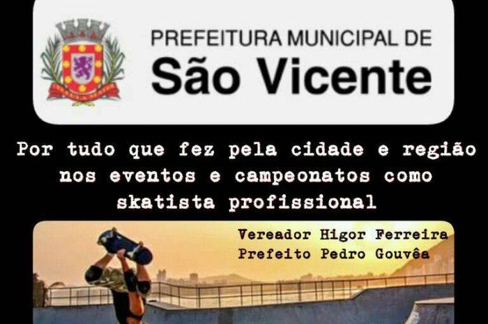 """Skatista Profissional """"Luciano Kid"""" será Homenageado na Câmara Municipal de São Vicente/SP - (Clique e Compartilhe)"""